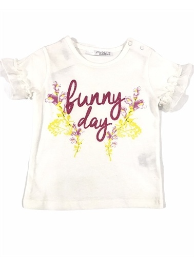 Zeyland Zeyland T-Shirt Kirli Beyaz Bunny Day Beyaz